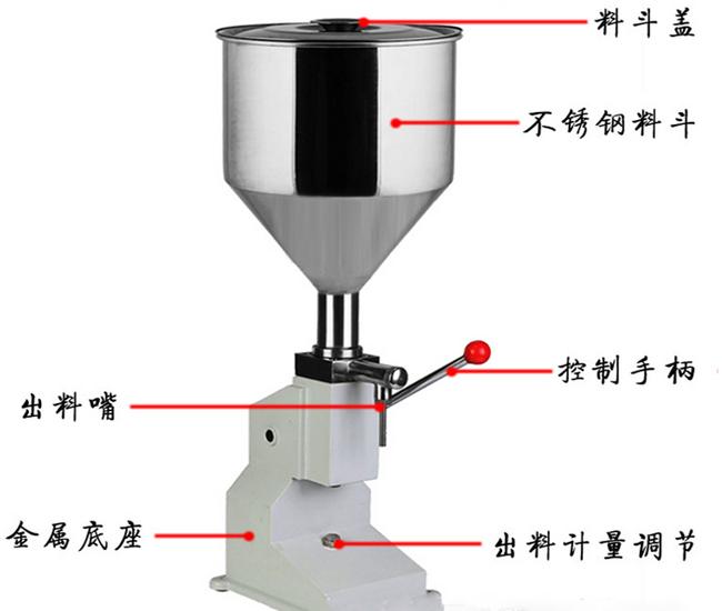 小型膏体液体定量灌装机结构